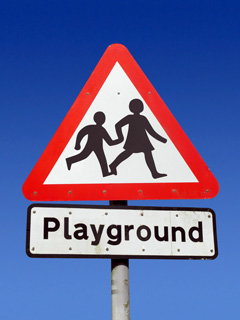 playground safety road sign