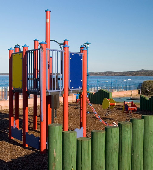 waterfront playground equipment